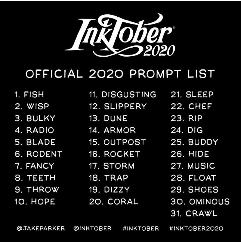 liste officielle inktober 2020