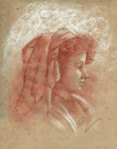 portrait à la sanguine