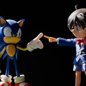 figurines sonic et Détective Conan