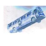 aquarelle bus